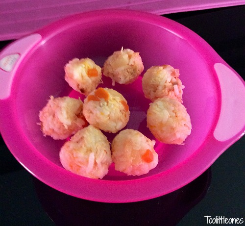 toddler recipe, salmon rice balls