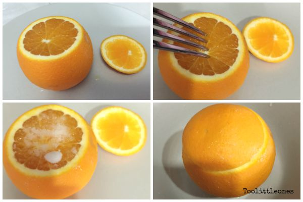 steamed orange with salt