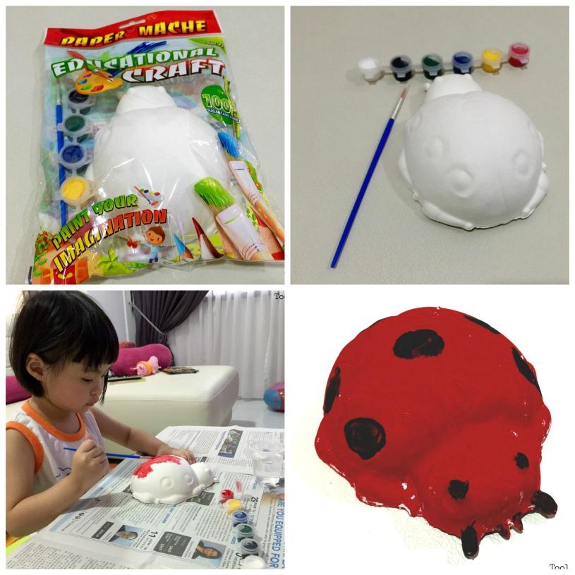 ladybug paper mache