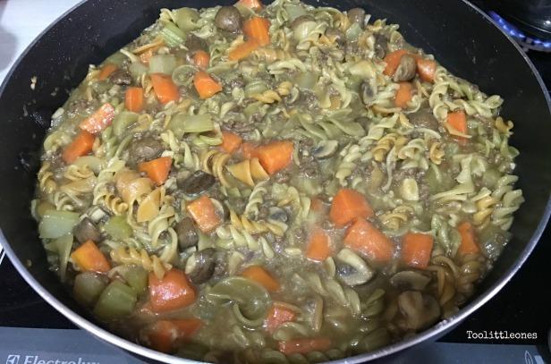 beef Stroganoff pasta recipe